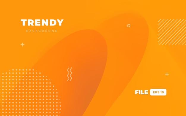 Trendy oranje geometrie achtergrond