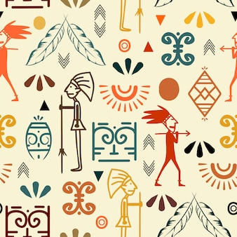 Trendy oude symbool naadloze patroon