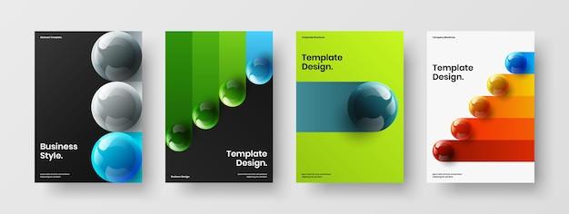 Trendy pamflet vector illustratie ontwerpset