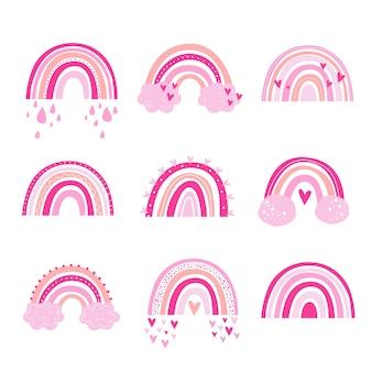 Trendy regenboog vector design. regenboog digitale kleur clipart baby rainbow vector.