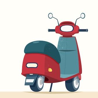 Trendy scooter vanuit achteraanzicht