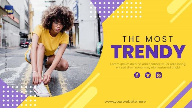 Trendy sjabloon voor spandoek. promotie mode banner voor website, flyer en poster