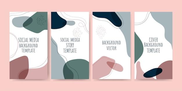 Trendy social media verhalen met abstracte achtergronden