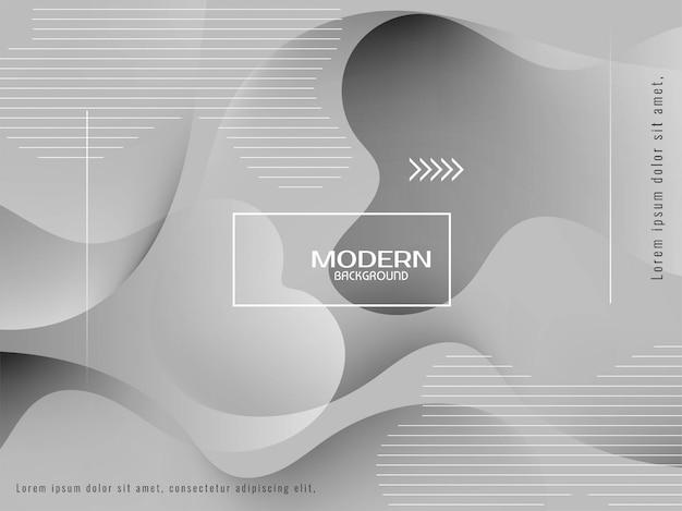 Trendy stijlvolle grijze kleuren vloeibare achtergrond