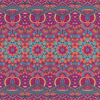 Trendy vector behang vintage doodle kunst design ikat