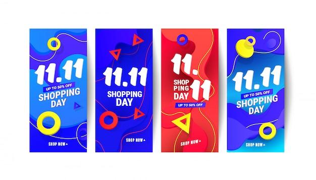 Trendy vloeibare golf gradiënt ontwerp element banners voor sociale netwerken verhalen, vectorillustratie.