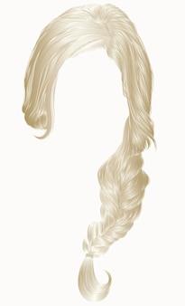 Trendy vrouw haar geïsoleerd op wit