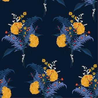 Trendy zachte bloeiende boeket gele bloem