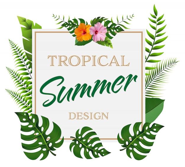 Trendy zomer achtergrond