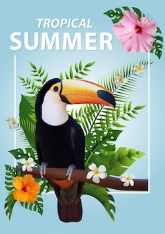 Trendy zomer tropical