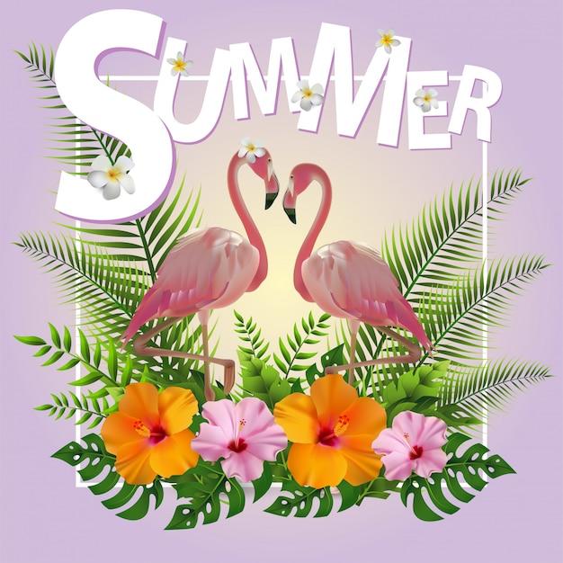 Trendy zomer tropische achtergrond