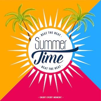 Trendy zomertijd banner
