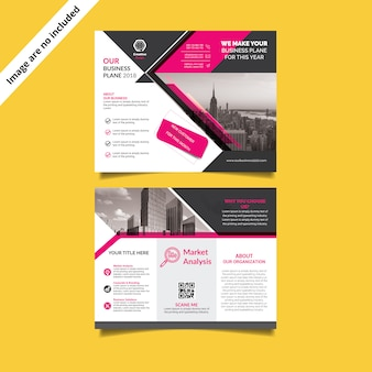 Tri-fold brochure-sjabloon
