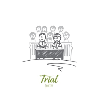Trial concept illustratie
