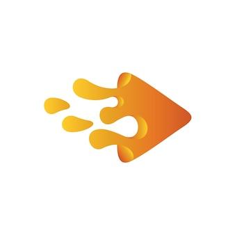 Triangle paint water logo, liquid play-logo