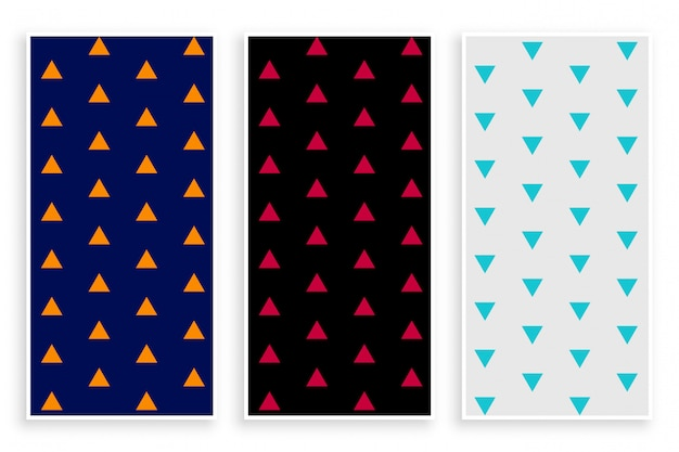 Triangle repeat pattern banner set