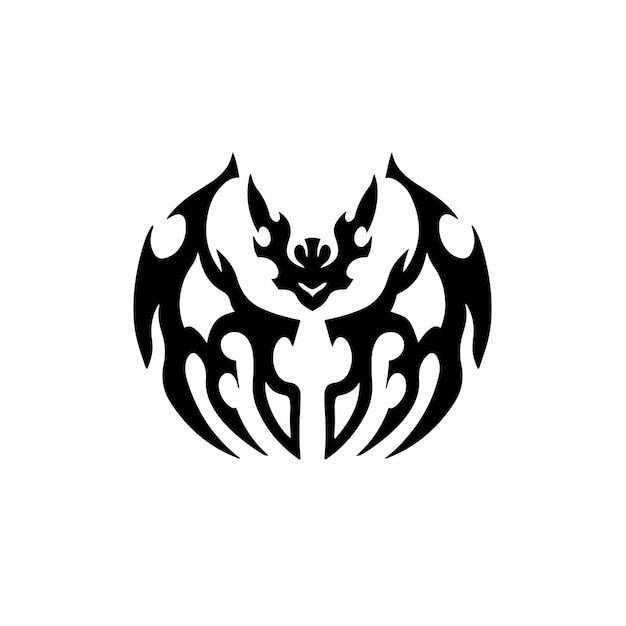 Tribal bat logo tattoo design stencil vectorillustratie