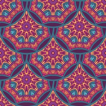Tribal indiase etnische naadloze mandala's herhalen ontwerp
