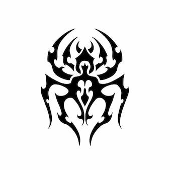 Tribal spider head logo tattoo design stencil vectorillustratie