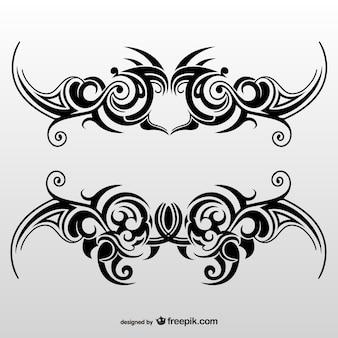 Tribal tattoo art set