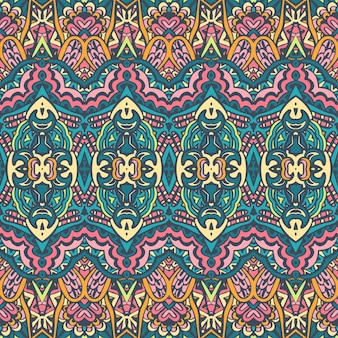 Tribal vintage abstract vector geometrische etnische naadloze patroon sier. indiaas kleurrijk textielontwerp