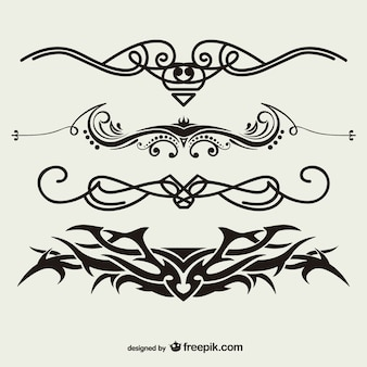 Tribale tatoeages vector set
