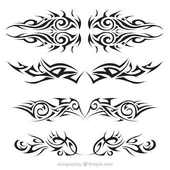 Tribale tattoos set Gratis Vector