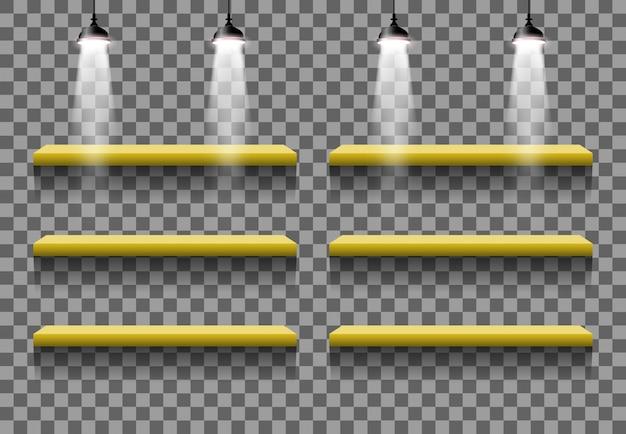 Tribune binnenlandse lege effect lichte vectorruimte