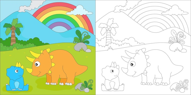 Triceratops kleuren