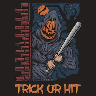 Trick or hit halloween