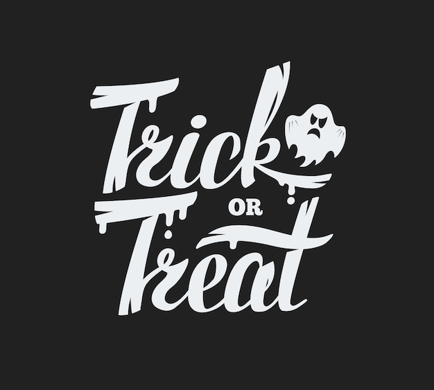 Trick or treat belettering achtergrond