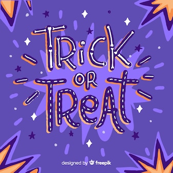 Trick or treat belettering cartoon lettertype