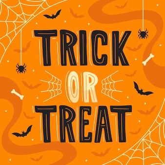 Trick or treat - belettering concept