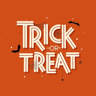 Trick or treat belettering concept