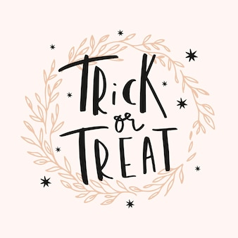 Trick or treat-belettering