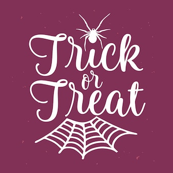 Trick or treat belettering