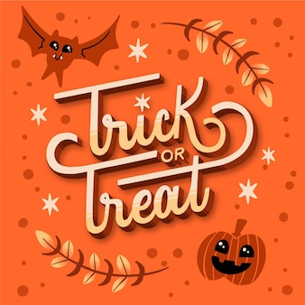 Trick or treat - belettering