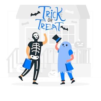 Trick or treat concept illustratie