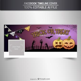 Trick or treat facebook tijdlijn deksel