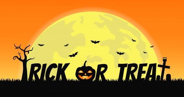 Trick or treat halloween achtergrond