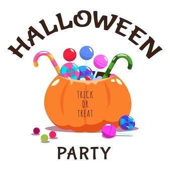 Trick or treat halloween-banner met pompoen
