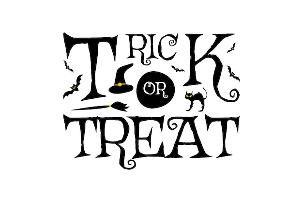 Trick or treat halloween party evenement nacht viering horror illustratie