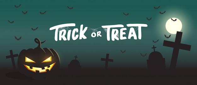 Trick or treat halloween-pompoenbanner