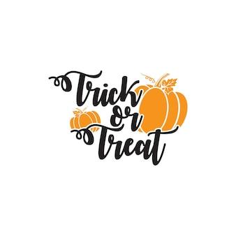 Trick or treat halloween-typografie