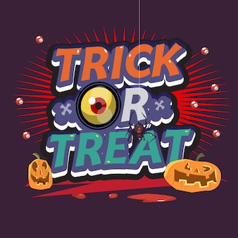 Trick or treat letters. halloween.