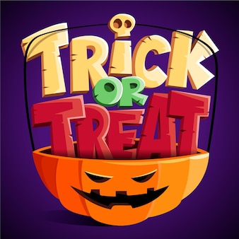 Trick or treat-letters