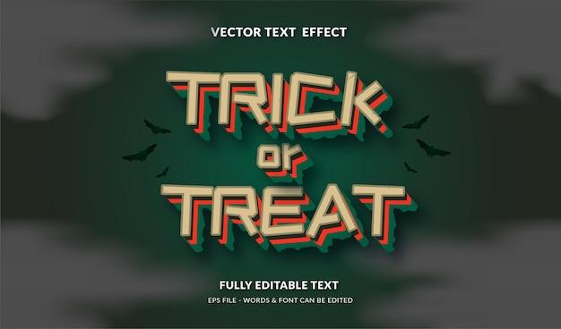 Trick or treat met bewerkbaar teksteffect in moderne stijl