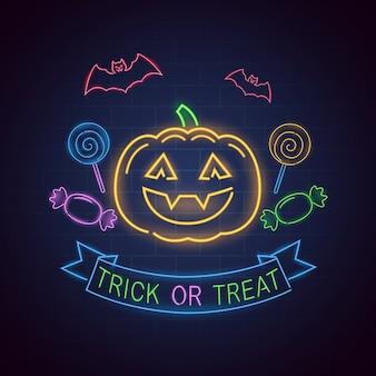 Trick or treat-neonlicht