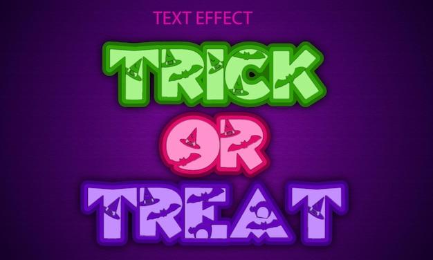 Trick or treat volledig bewerkbare teksteffect