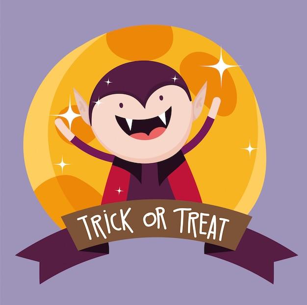 Trick or treat voor gelukkig halloween